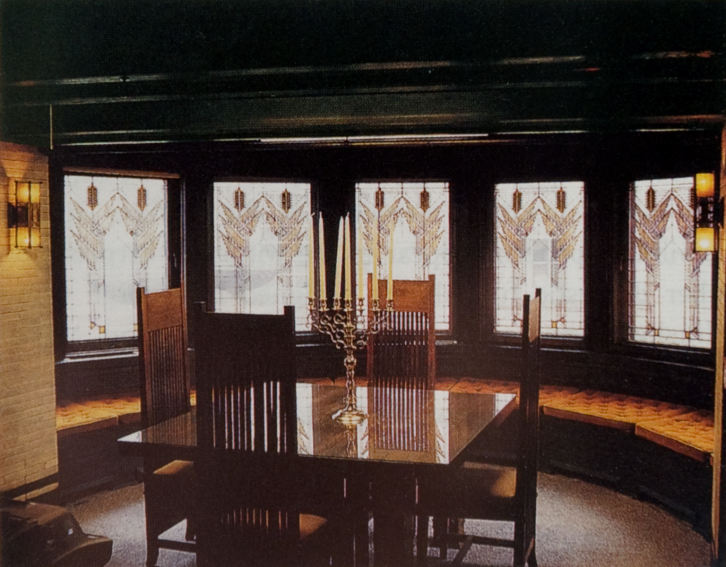 Frank Llyod Wright Susan Dana House Dining Room Furniture Springfield Illinois Completed1904