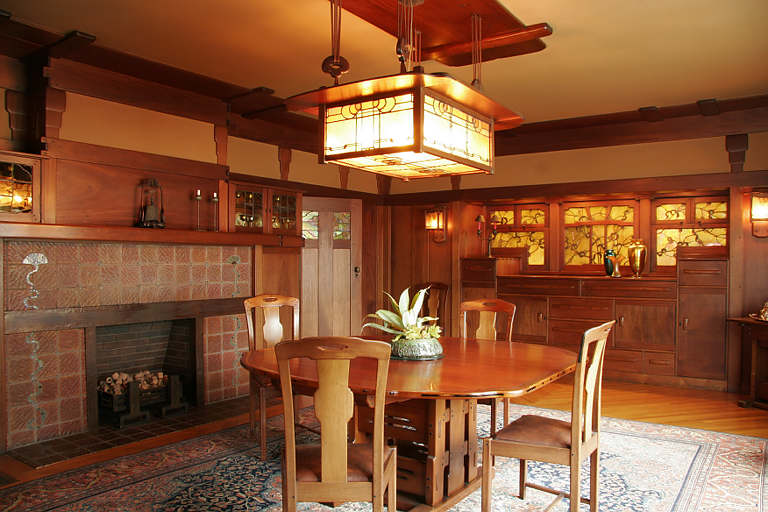 Greene And Greene, Gamble House, 1908  DiningRoom