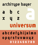 Herbert Bayer, Universal Alphabet