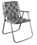 Folding Chair, Aluminum and Nylon Webbing, Late1960s