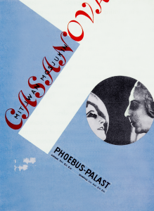 Tschichold ,Film Poster for the theaters, Letterpress 1927