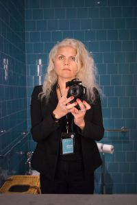Jennifer Greenburg ups the ante on the typical bathroom selfie. (Courtesy PCNW)