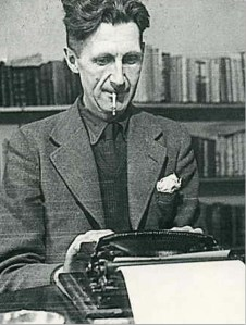 George Orwell suffering though a bout of writing
